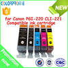 Wholesale Compatible for Canon PGI-220 CLI-221 ink cartridge with chip