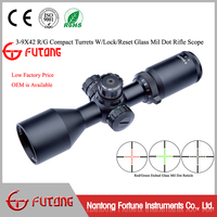 Rifle Scope 3-9x42CE Etched Glass Mil Dot Reticle Turrets W/Lock/Reset Long Eye Relief Compact Riflescopes Hunting Riflescope