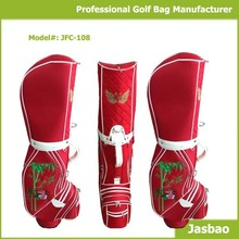 Manufacture Supply Fashion Designed Red Golf Cart Bags