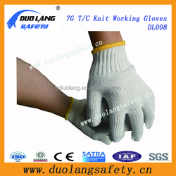 Great Price Cotton Fabric Knitting Gloves China Wholesale