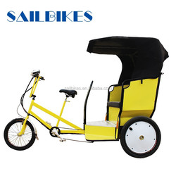 electric bike taxi tricycle rickshaw with pedals