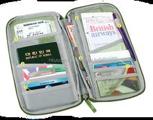 multifunctional card/ticket/passport holder folder travel wallet bag