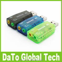 Free Shipping 3.5mm Jack Audio Headset USB Sound Card Converter Adapter for Computer