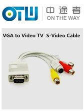 VGA to SVIDEO / RCA CONVERTER CABLE ADAPTER FOR PC TV