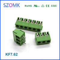2 or 3 pins and 3.96/7.5mm space male terminal block and industrial electrical wire connector of straight pin and pluggable type