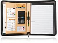 zippered portfolio with calculator