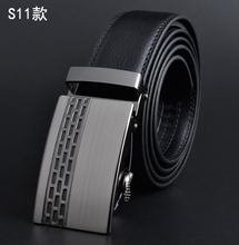 Belt/Zinc Alloy Buckle/Black Split Leather Belt- gift for him