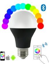Smart Bluetooth LED Lighting!!! E27 B22 Bluetooth LED Light Bulb/Bluetooth RGB LED Light Bulb/Bluetooth LED light