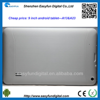 Cheap price 9 inch Allwinner A13 android tablet pc,arm cortex a13 cpu android tablet pc, China mainland manufacturer