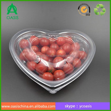 500g PET heart shape plastic fruit packaging box