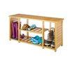 2015 hot sale bamboo shoes racks new design entryway Bamboo Storage Bench