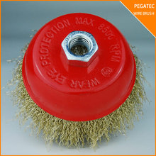 factory price cup brush 60 grit for metal with MPA EN12413