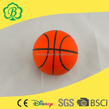 Cheap Promotional Custom Cute, basketball stress ball with stand, sticky toys