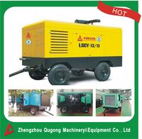 Diesel Screw Portable 12 Bar Air Compressor for Drilling Rig / Mining