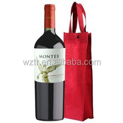 2015 new arrival custom fashion disposable wine gift tote bags