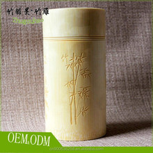 100% handicraft tea tin can container raw material bamboo
