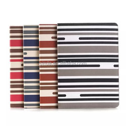 Leather Stripe Wallet Book Case Pouch for iPad Air 2/ipad 6/with stand card slot