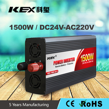 Smart soft start function power inverter car battery dc 24v ac 220v 1500w power inverter with overvoltage protected funciton