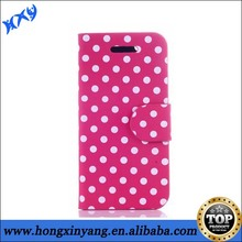 Colorful Dot Spot Leather Case for iPhone 5 Leather Pouch,Wallet Leather Case with Polka Dot.