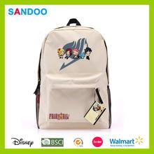 simple de dibujos animados mochila de lona de venta al por mayor