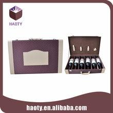 Decorative design wine bottle gift case box