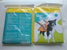 Needle punched non-woven fabric super soft and absorbent dog drying towels ( for dogs, cats, etc)