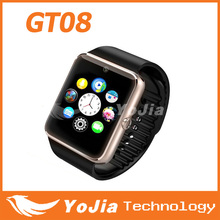 Smart Watch GT08 Clock Sync Notifier With Sim Card Bluetooth Connectivity for iphone Android Phone Smartwatch Watch