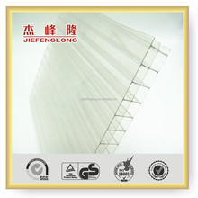 Ge lexan multi-wall structure colored polycarbonate hollow sheet materials for roofing covering