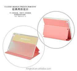 Fashion pu leather flip anti-shock tablet case for ipad mini 2 3