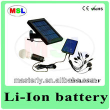 2W 4AH Solar Powered Electric Lights With Phone Charger