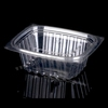 360ml transparent tray disposable pet material type plastic container with flat lid