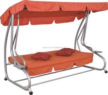 wholesale durable folding outdoor metal adjustable hanging garden swing bed & chair
