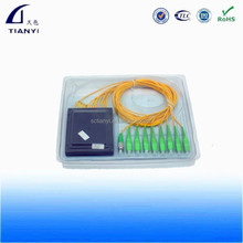 Box PLC Fiber Optic Splitter 1x8