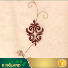 Decoration home Classical Elegant embroidered sheer curtain fabric