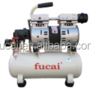0.75HP 8L tank 7bar FUCAI model FC550-1 dental /family oil free and silent air compressor