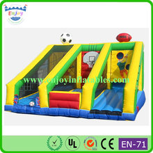 durable inflatable bungee run jump shooting basketball for sale