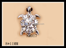 Bling shinning Tortoise rhinestone 3d nail decoration NM017