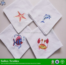 LINEN cotton TEA TOWEL CLOTH DISH embroidered tea towel