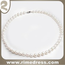 10-11mm Perfectly Round with Superb Luster and Minimal Surface Blemishes Freshwater Pearl 17' Necklace with Silver Clasp-N0501B