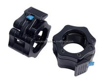 Olympic Barbell Sleeve Black Plastic Collars Lock Jaws