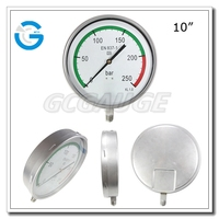 10Inch 250mm dial stainless steel pressure gauge