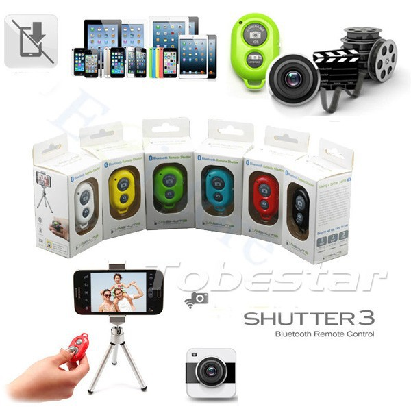 Пульт ДУ OEM 100 Bluetooth IOS Android iPhone HTC Sony Samsung Bluetooth Shutter Remote Control