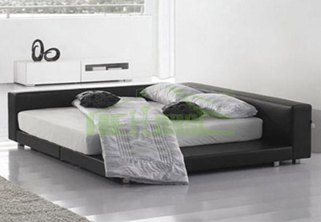 modern japanese style ling size platform bed frame on sale hb703 buy platform bed modern. Black Bedroom Furniture Sets. Home Design Ideas
