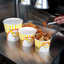 Fried Chicken Buckets Eco-friendly Paper Buckets for Fast Food