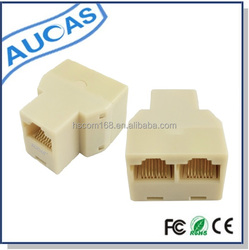 ABS network adapter for network cable 3 ways telephone adaptor