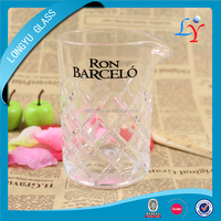 bar glassware 500ml cocktail Japanese mixing glass with custom printed