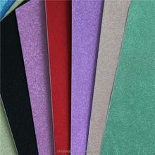 2016 Fashion glitter paper cardstock solid color glitter + cardstock