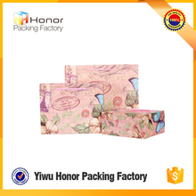 Promotional recycled wholesale matte lamination butterfly lovely cartoon luxury gift paper bag shopping use