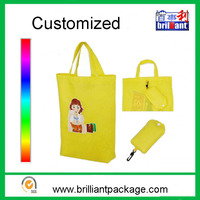 Customized any color canvas folding tote shopping bag