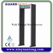 Security and multi zones walk through metal detector
